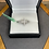 Thumbnail: Sterling cross ring, size 6.75