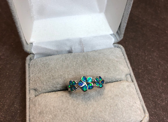 Sterling silver opal ring, size 5.5