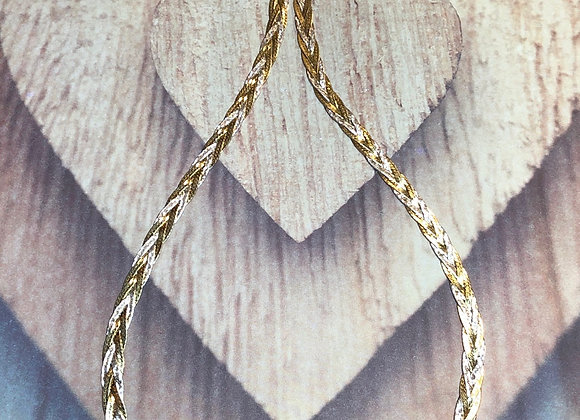 Sterling Silver Woven Link Necklace