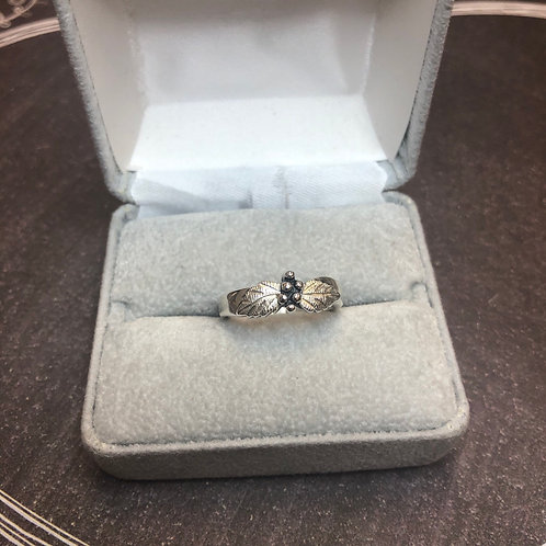 Sterling silver fall ring, size 7