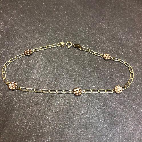 14k floral bracelet