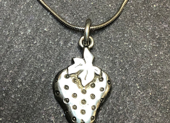 Sterling silver strawberry charm