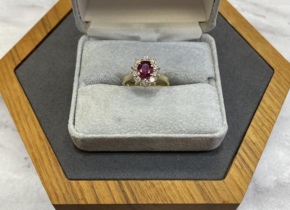 18k 1.0 ct pink sapphire ring