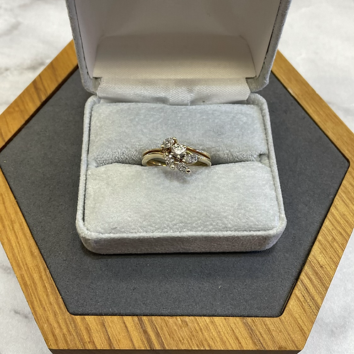 14k gold ring with .70 ctw diamonds