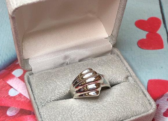 Sterling Silver Fan Ring - Size 9.5