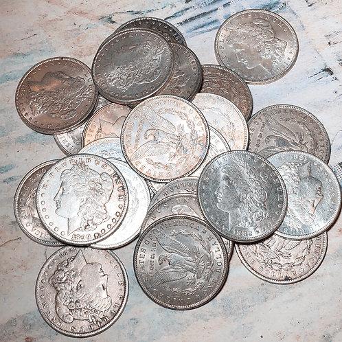 Circulated Morgan Silver Dollars