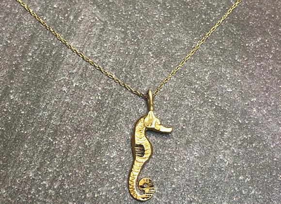14k seahorse charm