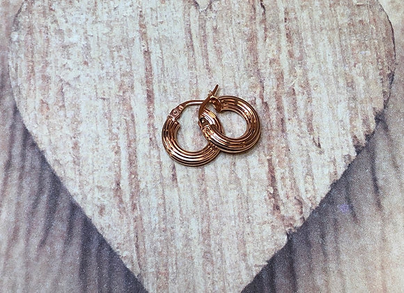 14k Rose Gold Round Clip Earrings