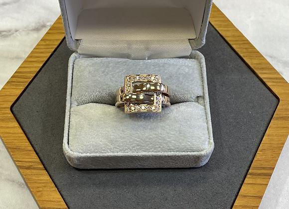 18k rose gold buckle ring