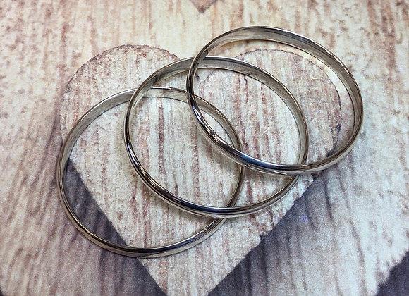 Sterling Silver Bangle Bracelet Collection