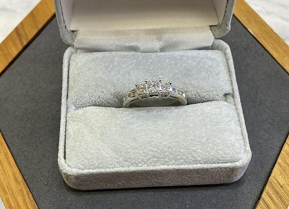 14k 1.0 carat princess cut diamond ring