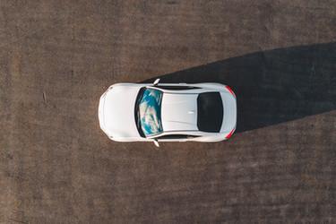 White Car Overhead
