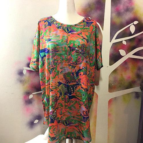 Lisa Dress in Keef's Reef Orange