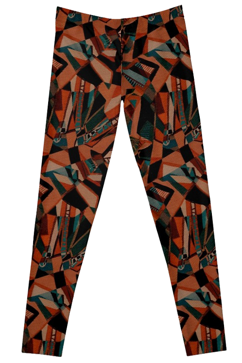'Limbs' Orange and Teal Leggings