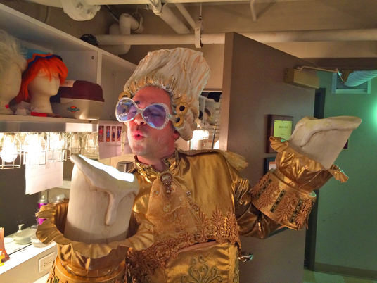 As Lumiere (doing my Elton John tribute) backstage