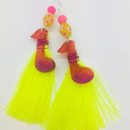 In Tune Glitter Tassel Earrings