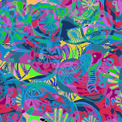 Keef's Reef (BLUE) Leggings