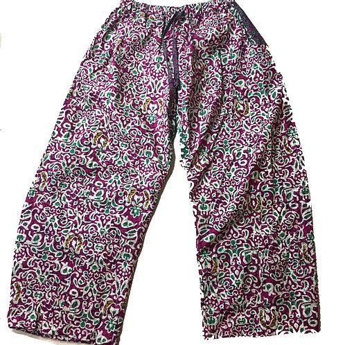 Party Pants- Pink Batik