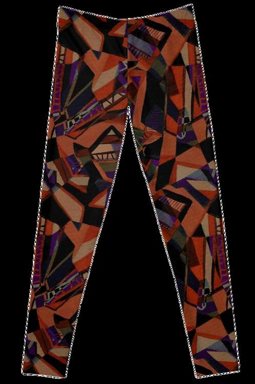 Limbs Orange and Purple Leggings