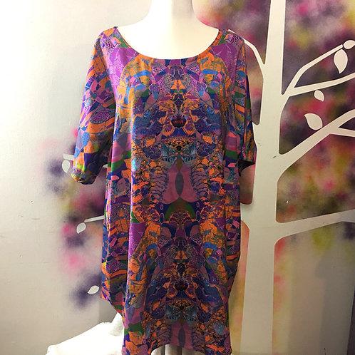 Lisa Dress in Ziggy Stardust print