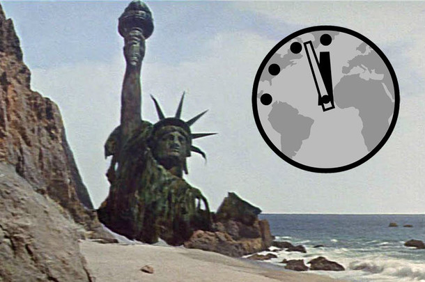 This Is The Clock. The Doomsday Clock. Telling The Time...For Trumpton.