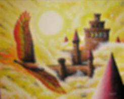 Le maître du ciel,  huile, 16''x20'', Ma