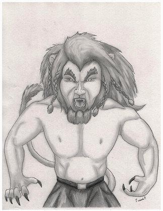 L'homme lion