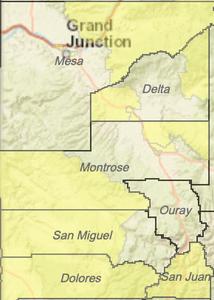 SW Colorado Opportunity Zones Shown in Yellow