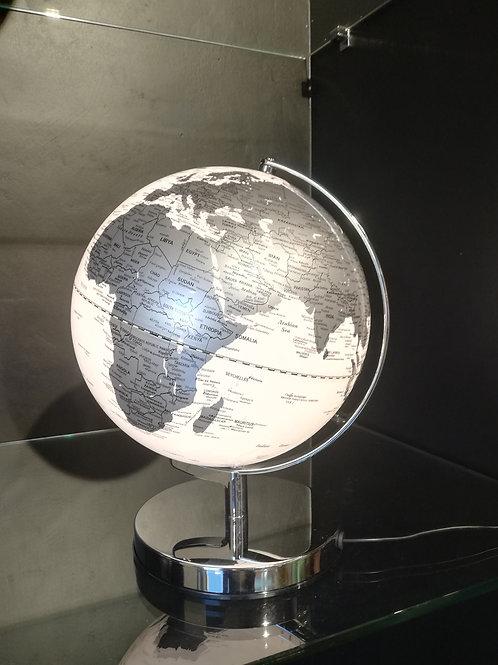 Globo luminoso in resina e acciaio d. cm 25
