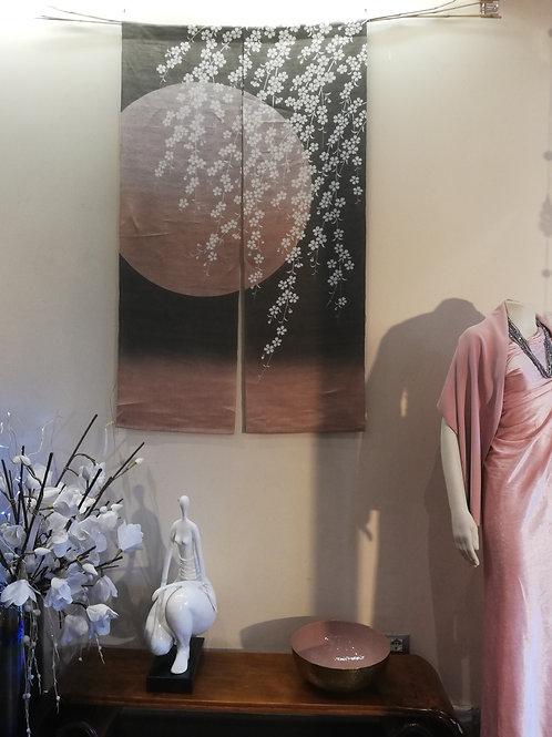 Noren in lino dipinto a mano