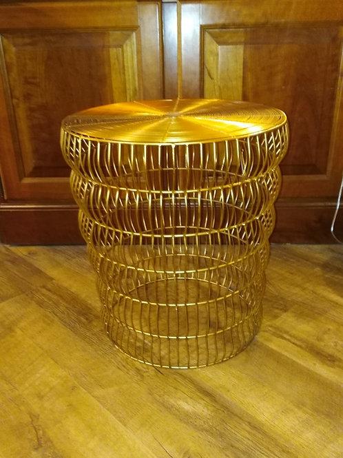 Tavolino - seduta in metallo dorato