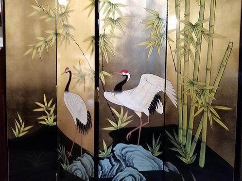 """""""Aironi"""" - Paravento cinese - Legno, foglia d'oro"""