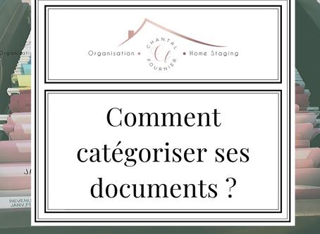 Comment organiser vos documents dans le classeur ?