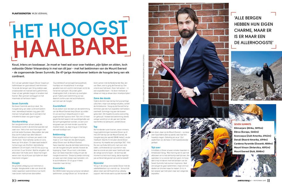 Het hoogst haalbare - AmstelveenZ Magazine september 2017