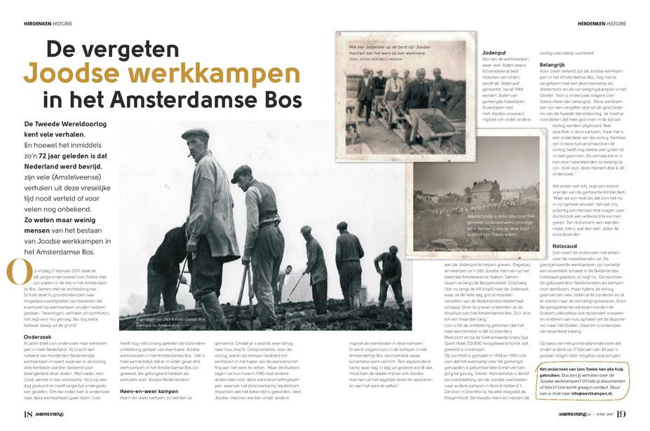 De vergeten Joodse werkkampen in het Amsterdamse Bos - AmstelveenZ Magazine april 2017