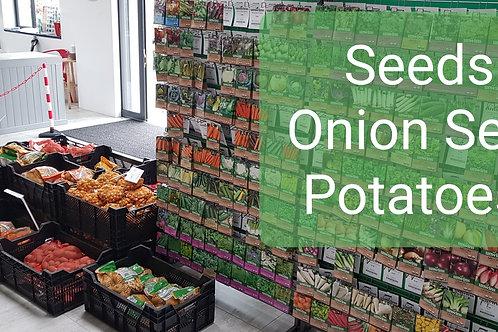 Onions, Shallots, Potatoes