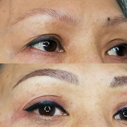 Eyebrows and Eyeliner
