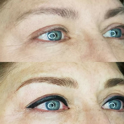 Eyebrow and Eyeliner