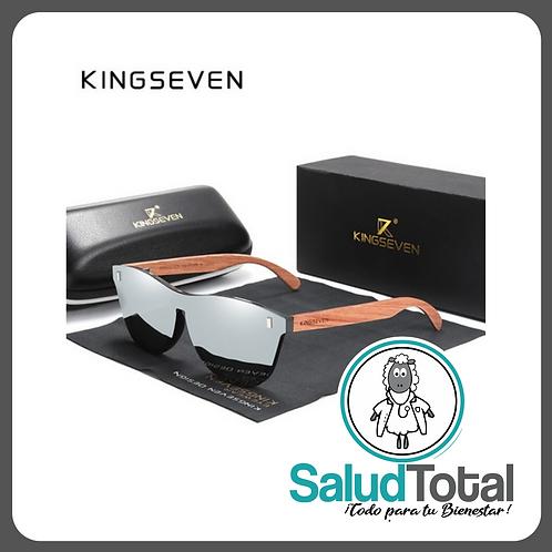 "Lentes de Sol polarizados HD UV400 Unisex ""KINGSEVEN"" varillas de madera."