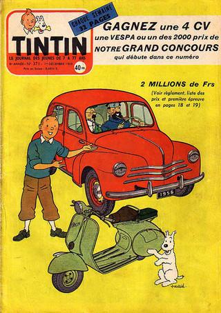 Le journal de Tintin N°371 Couverture  (Hergé)