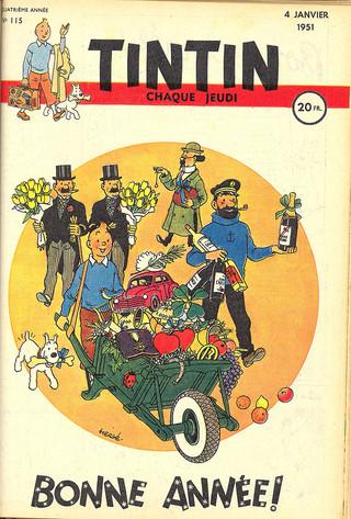 Le journal de Tintin N°115 Couverture  (Hergé)