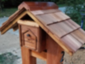 Timber frame Red Cedar Mailbox