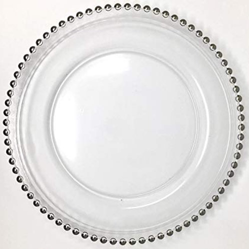 Glass Beaded Charger (silver)