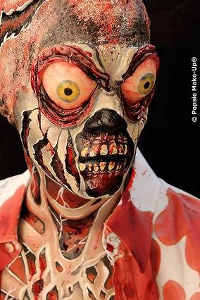 zombie faux yeux gel FX Popsie make-up Maquilleuse paris