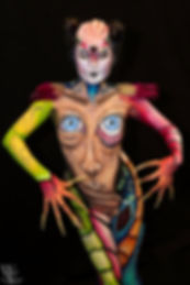 TV addiction by Popsie Bodypainting Paris venlo maskerade diana chan sumbodyart prothèses