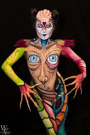TV addiction by Popsie Bodypainting Paris venlo maskerade diana chan sumbodyart prothèses