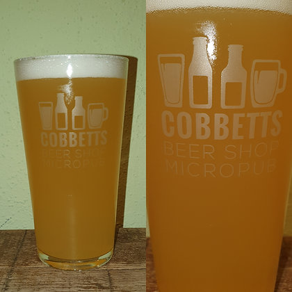 Cobbetts Printed Pint Glass