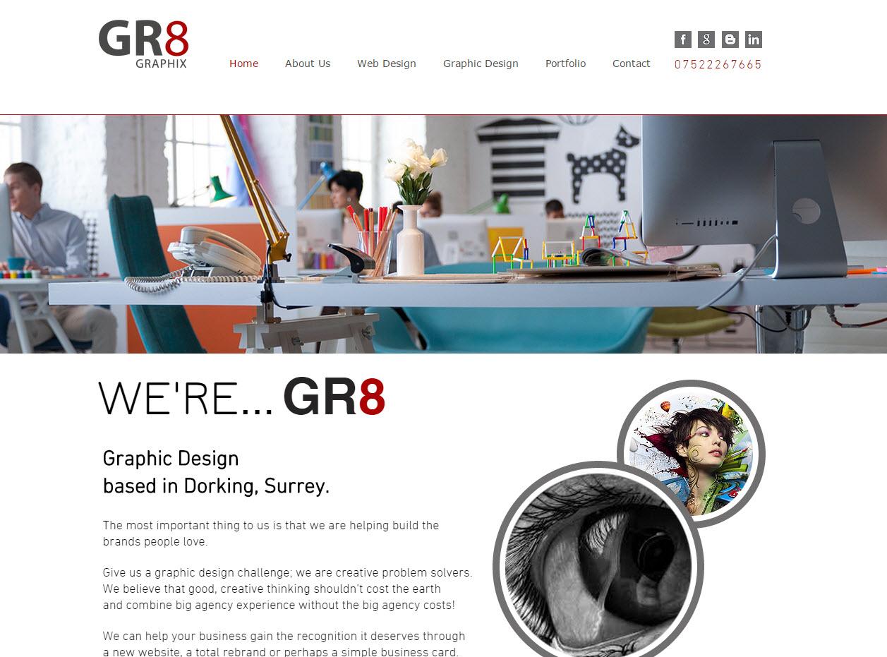 GR8 Graphix | Graphic Design Dorking | Logo Design | Branding