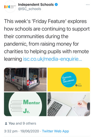 Mentor Jr. in the Independent Schools Guide's 'Friday Feature'
