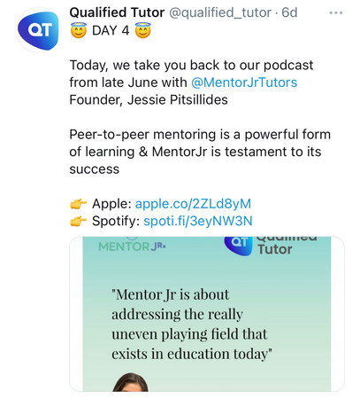 QualifiedTutor podcast shoutout
